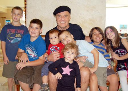 Wayne and his Grandkids