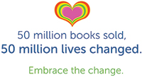 50 million books sold logo